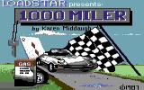 1000 Miler Commodore 64 Loading screen