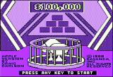 The $100,000 Pyramid Apple II Title screen