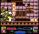Kirby Super Star SNES Revenge of Meta-Knight: Auto-scrolling escape from the giant crab boss