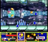 Kirby Super Star SNES Milky Way Wishes - a side-scrolling shoot-'em-up stage