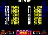 Total Carnage Amiga CD32 High scores