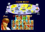 Super Street Fighter II Amiga Character selection (ECS)