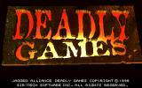 Jagged Alliance: Deadly Games DOS subtitle