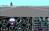 Microsoft Flight Simulator (v2.0) PC Booter Startup on Meigs Field
