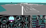Microsoft Flight Simulator (v2.0) PC Booter Behind view of Meigs takeoff