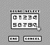 Power Racer Game Boy Normal mode. Round select.