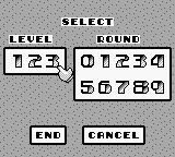 Power Racer Game Boy Special mode menu.