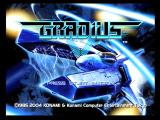 Gradius V PlayStation 2 Game title and menu screen