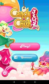 Candy Crush Jelly Saga Android Title and main menu screen