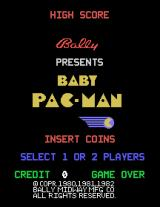 Baby Pac-Man Arcade Title screen