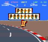 Pole Position II Arcade Title screen during demo mode