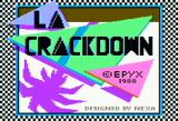 L.A. Crackdown Apple II Title screen