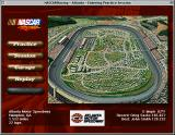 NASCAR Racing Macintosh Main Menu and Track Info screen.