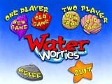 Freddi Fish and Luther's Water Worries Windows Main menu