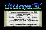 Ultima V: Warriors of Destiny Sharp X68000 Credits