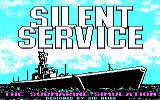 Silent Service PC Booter Loading screen