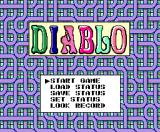 Diablo MSX Title screen