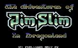 The Adventures of Jim Slim in Dragonland Commodore 64 Title screen