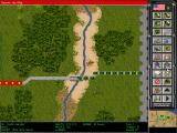 Steel Panthers II: Modern Battles DOS Vietnam War scenario: map view zoomed out at maximum.