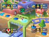 Mario Party 5 GameCube Toad moving along the game board