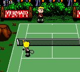 Snoopy Tennis Game Boy Color Forest (Grass court).