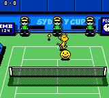 Snoopy Tennis Game Boy Color Power mode. Sydney Cup (Hard court).