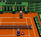 Snoopy Tennis Game Boy Color Power mode. Paris Cup (Clay court).