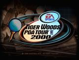 Tiger Woods PGA Tour 2000 Windows The title screen