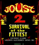 Joust 2: Survival Of The Fittest Arcade Title screen