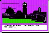 Lane Mastodon vs. the Blubbermen Apple II London... October 15, 2029.