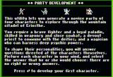 The Dark Heart of Uukrul Apple II Creating a new party