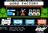 Reader Rabbit Apple II Title screen (Version 1.3)