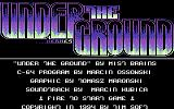 Under the Ground Commodore 64 Title screen