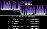 Under the Ground Commodore 64 Scores