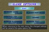 International Superstar Soccer 98 PlayStation Game options.