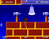 Zool Amiga Tool World - Watch out for falling axe and sharp objects