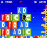 Zool Amiga Toy World - AD TO EC EC... probably some secret code