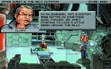 Space Quest V: The Next Mutation DOS Cliffy says that he's an engineer not a doctor! ;-)