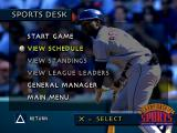 3D Baseball PlayStation Sports Desk.