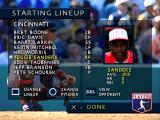 3D Baseball PlayStation Start Game - Starting Lineup.