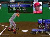 3D Baseball PlayStation Bret Boone.