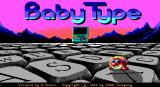 BabyType DOS Title screen.