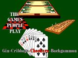 The Games People Play: Gin ∙ Cribbage ∙ Checkers ∙ Backgammon DOS Title screen