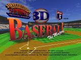 3D Baseball SEGA Saturn 3D Baseball: The Majors (title screen)