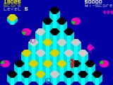 Pogo ZX Spectrum Level 5 - jumped off the edge by mistake.