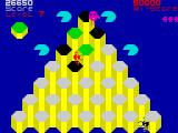 Pogo ZX Spectrum Level 7 - at the top of the yellow pyramid.