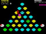 Pogo ZX Spectrum Level 9 - each step must be painted twice.