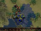 Warhammer 40,000: Rites of War Windows Battle against the marines. Blue hexes show where your unit can move.