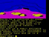 Red Moon ZX Spectrum An entrance to an underground cave.