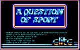 A Question of Sport DOS Title Screen (EGA).